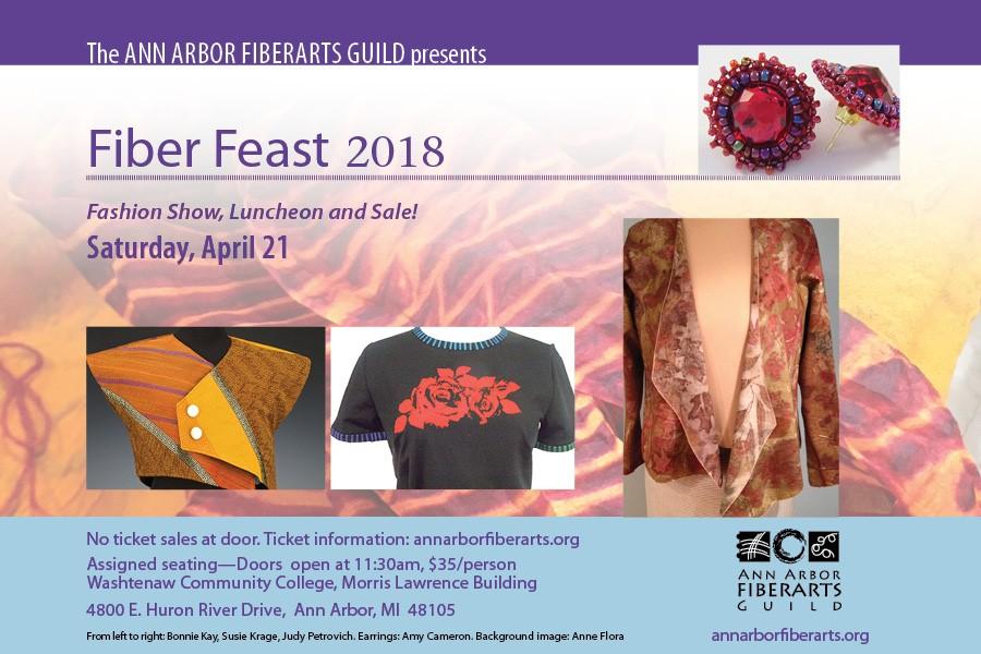 Fiber Feast 2018 Postcard